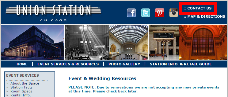 chicago wedding resource page