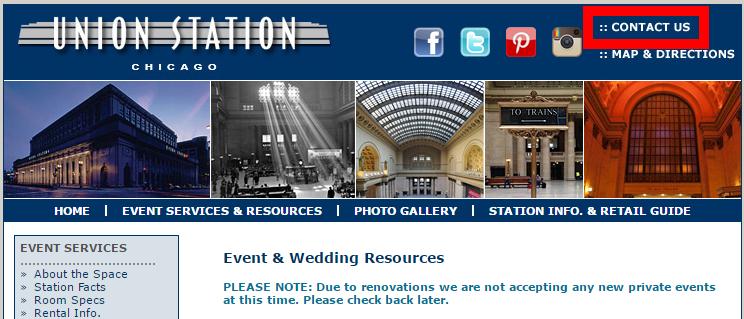 chicago wedding resource page
