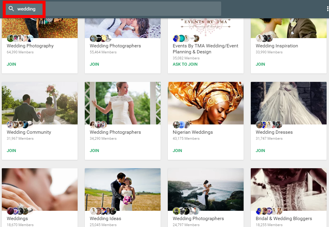 google plus for wedding photography seo