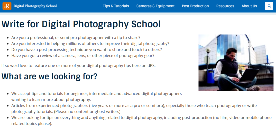 guest blogging for photographers